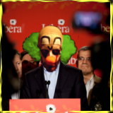 Illustration created with The GIMP using 'bad clown' by _gee_ and 'Press conference in Winnipeg // Conférence de presse à Winnipeg' by Press conference in Winnipeg // Conférence de presse à Winnipeg, both via Flickr